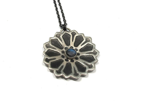Moroccan Flower Pendant with Labradorite