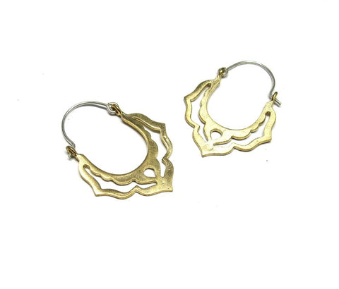 Moroccan Hoops in Brass
