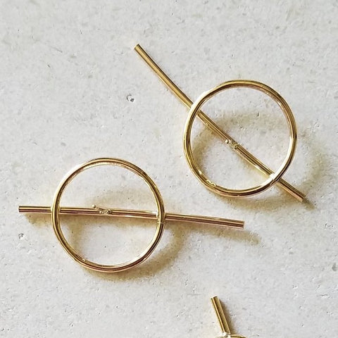 Zero Earrings - Gold Fill