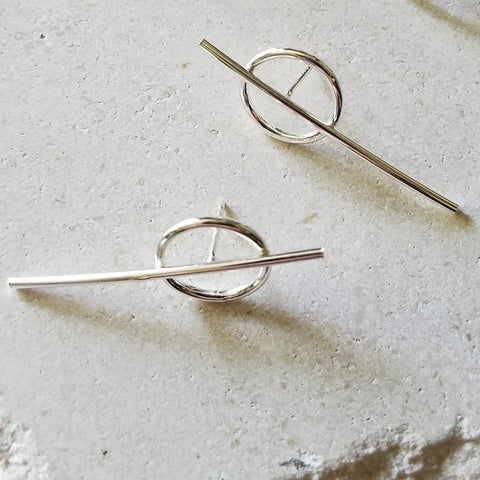 Zero Earrings - Sterling Silver