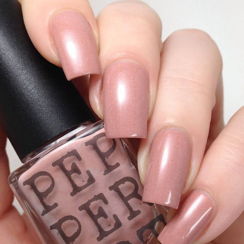 "Pepperpot Polish ""Showing some leg"" neutral pink nail polish"