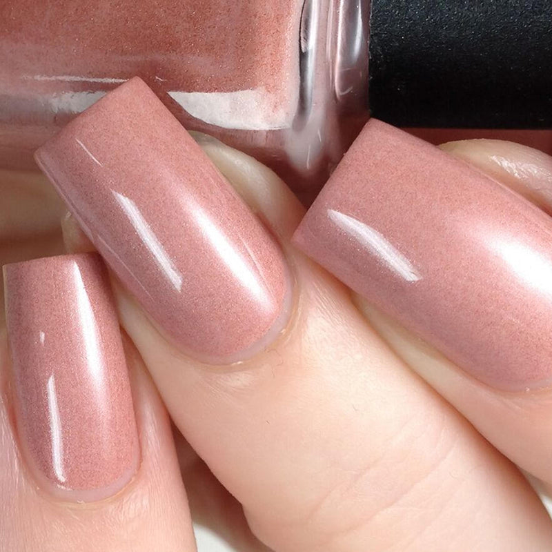"Pepperpot Polish ""show some leg"" nude pale pink indie nail polish"
