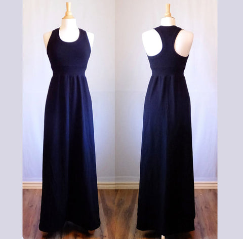 Dark Navy Racer Back Maxi Dress