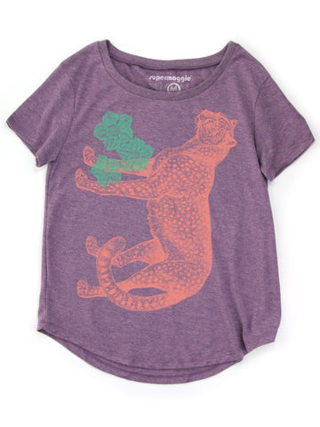 Cheetah Tee in Lilac