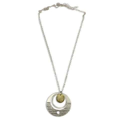Luna Mixed Metal Orbit Necklace