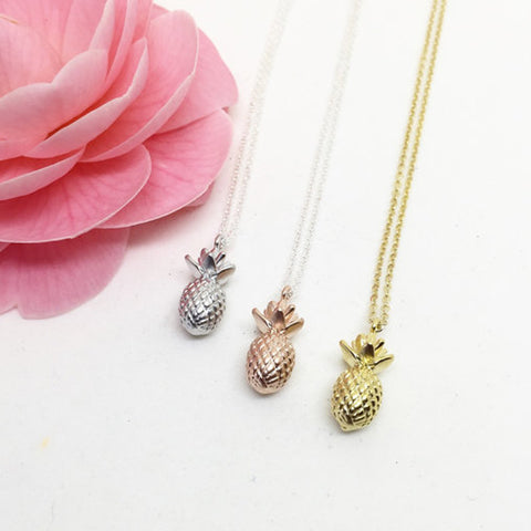 Totinette Bijoux cast pineapple charm necklaces