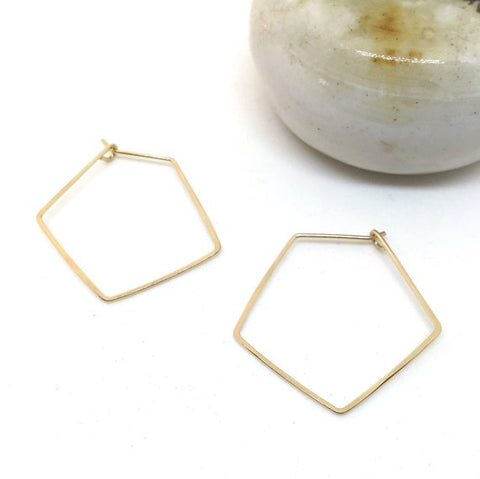 Pentagon Shaped Hoops