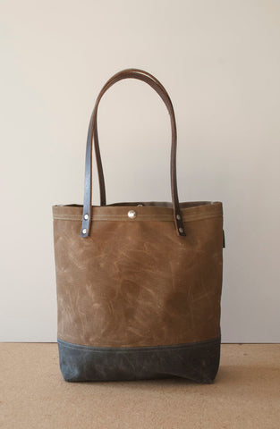 Simple Waxed Canvas Utility Tote