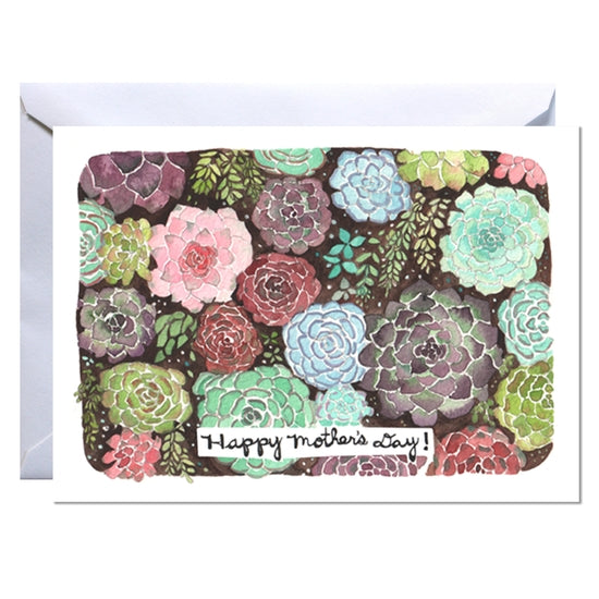 Mother's Day Card - Succulent Garden