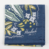 Floral Bandana in Navy/Green/Teal