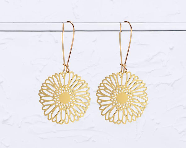 Gerbera Daisy Earrings