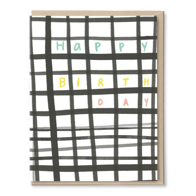 Grid Happy Birthday Card