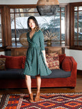 Callie Dress in Teal Bloom