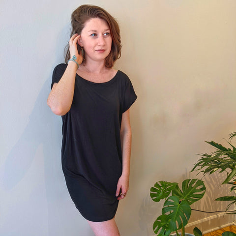 Locally made t-shirt dress by KD Designs available at Union Rose in Portland, Oregon.