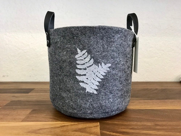 Grey Felt Bin with Handles