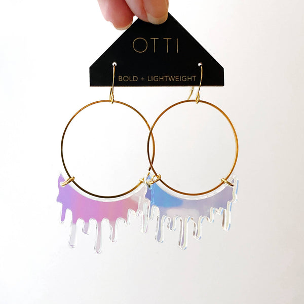 Slime Hoops in Iridescent