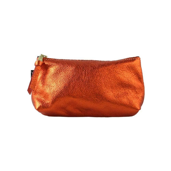 Soft Leather Zip Pouch - Small
