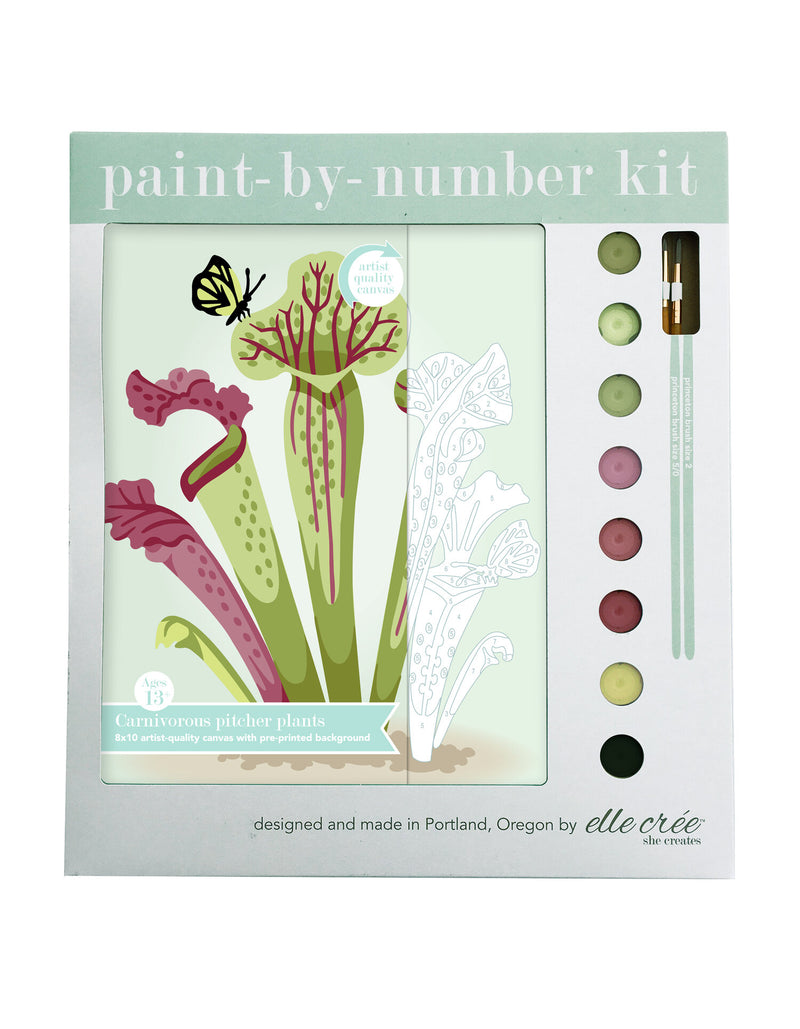 Carnivorous Pitcher Plant paint by Numbers Kit