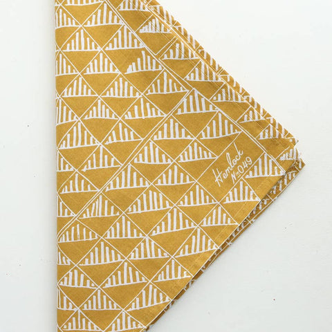 Goldenrod Bandana with Geometric Pattern