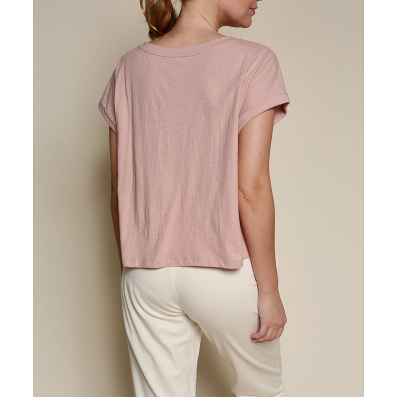 Recycled Cotton Top in Light Mauve