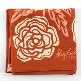 Bandana in Burnt Orange Roses