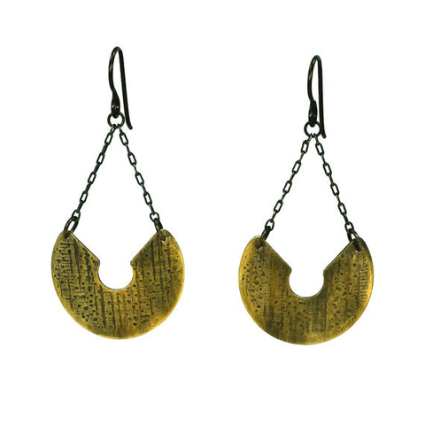 Athena's Wisdom Large Shield Earrings