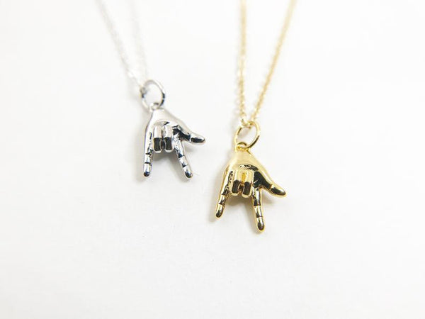 I Love You ASL Necklace - UnionRose