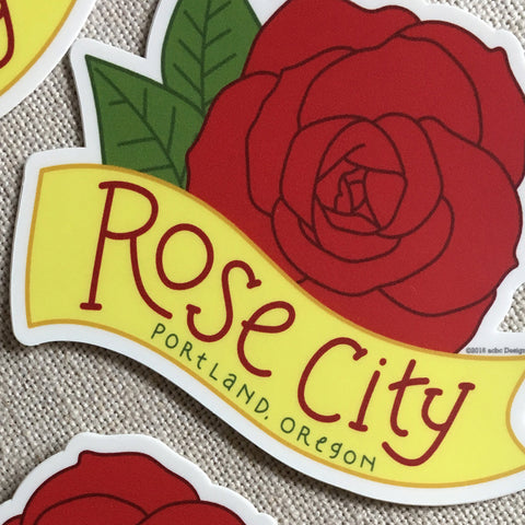 Rose City Portland Vinyl Sticker