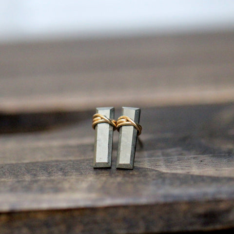 Gemstone Bar Studs