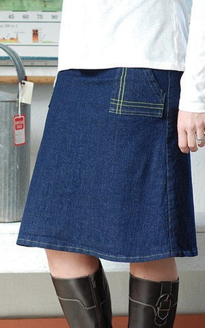 A-line Dark Denim Skirt
