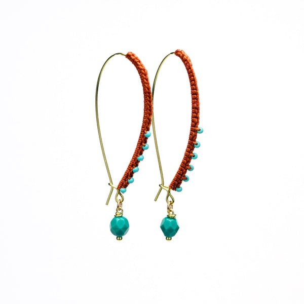 Wrapped and Beaded Earrings