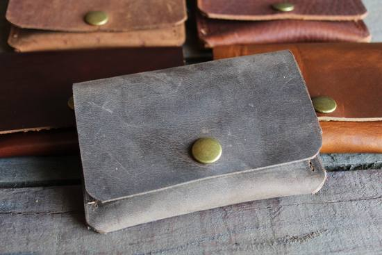 Espresso Leather Card Wallet