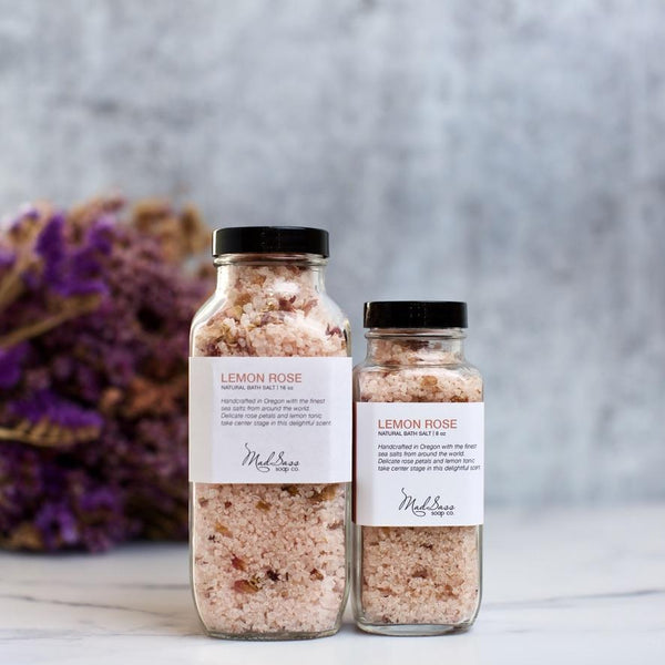 Lemon Rose Bath Salts- 2 Sizes
