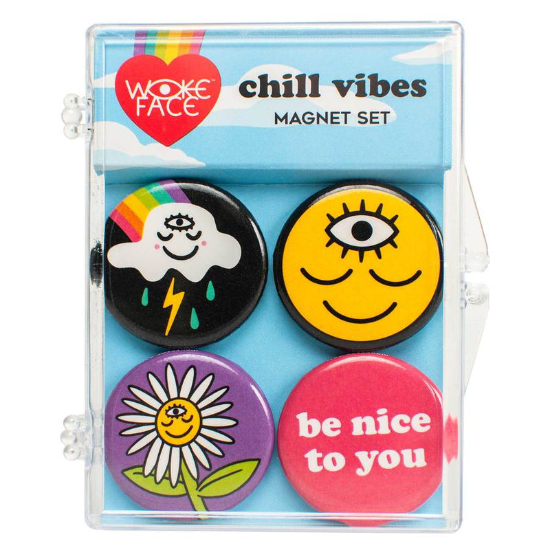 Chill Vibes Magnet Set by Wokeface