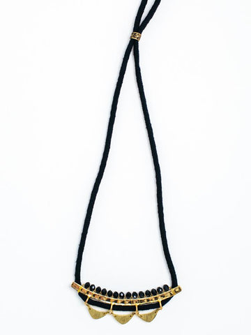 Cotton and Brass Necklace