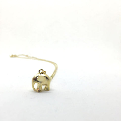 Momma Elephant Charm Necklace by Totinette