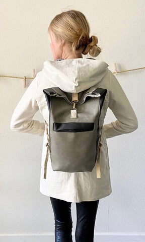 Pak Pak Vegan roll top backpack