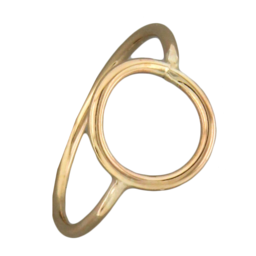 Open Circle Gold Fill Ring