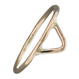 Open Triangle Gold Fill Ring