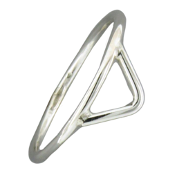 Open Triangle Ring in Sterling Silver