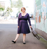 Rachel Dress in Dark Purple