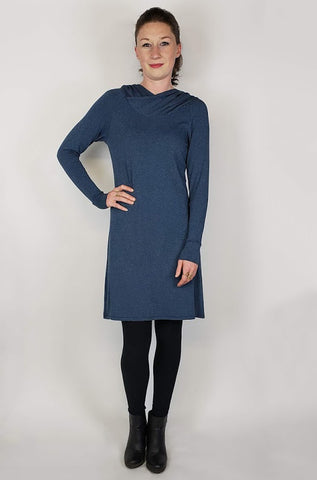 Hooded Ruby Tunic - Marled Blue