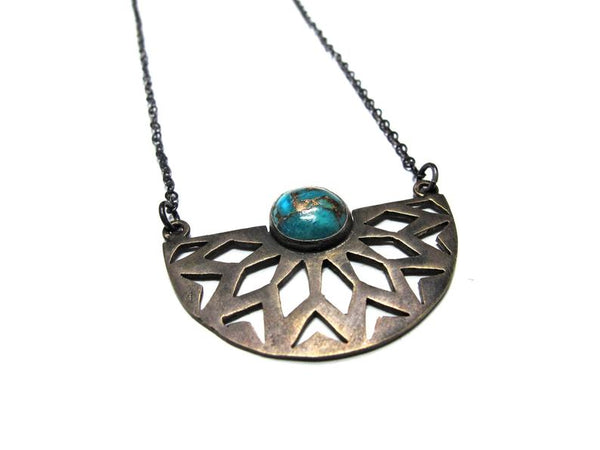 Mixed Metal w/ Turquoise Necklace