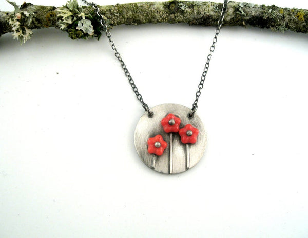3 Pinned Posey Necklace