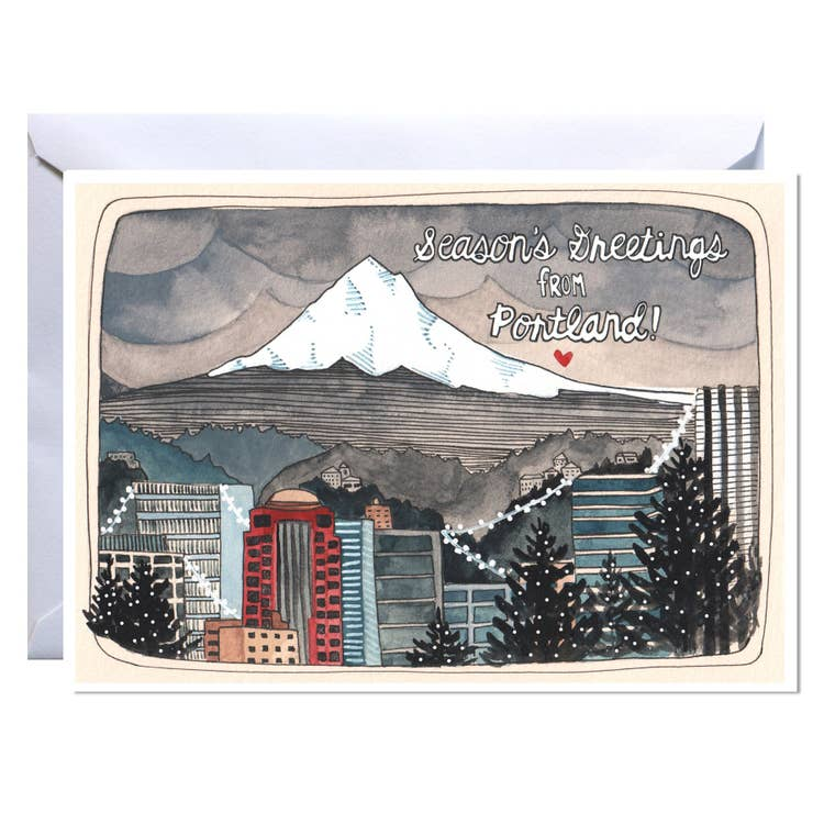 """Season Greetings from Portland"" Holiday Card"