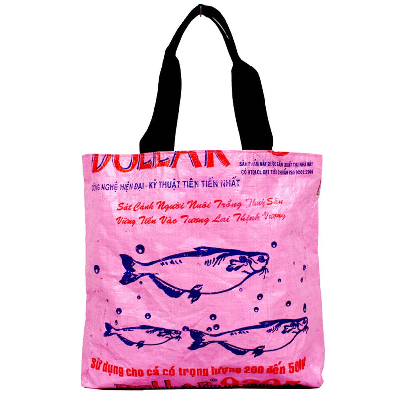 Shopping Tote from recycled feed bags