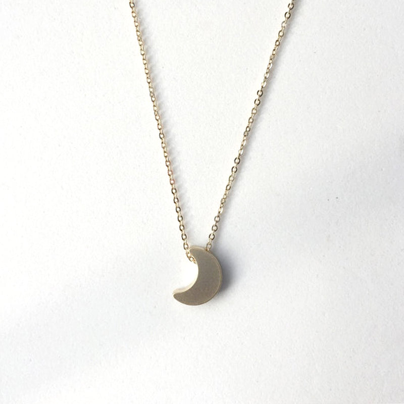 Totinette Jewelry tiny crescent moon charm necklace