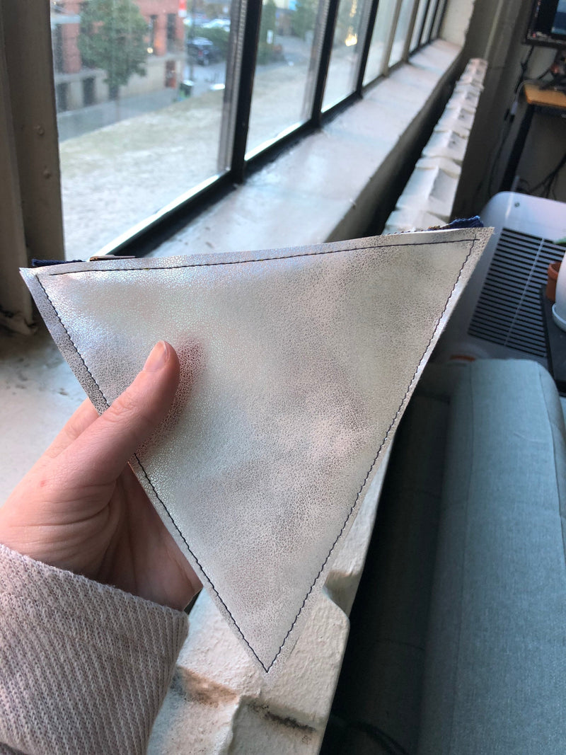 Vegan Zippered Triangle Pouch