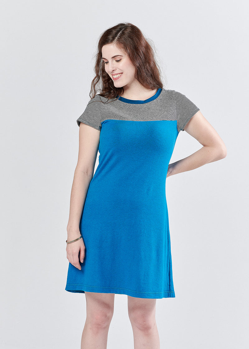 Sunstone Dress in Bright Blue- M Only