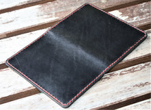 Handmade Cover or Wallet for Passport SINGRAPHUS Horween Leather Black Chromexcel